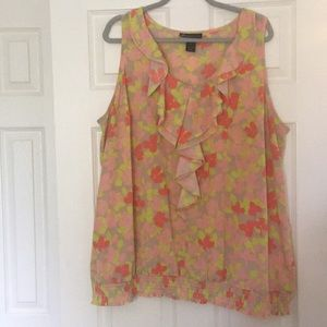 2 for $20!! Floral plus size blouse Lane Bryant